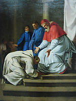 Saint Bruno the feet of Pope Urban II, 1648, sueur