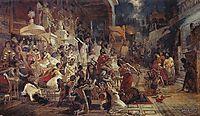 Belshazzar-s Feast, 1874, surikov