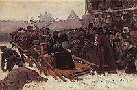 Boyarynya Morozova (study), 1881, surikov
