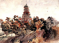 Church in the village Dyakovo, c.1913, surikov