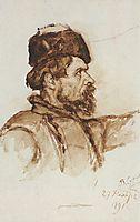 Cossack-s head, 1891, surikov
