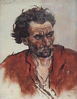Cossack with red shirt, c.1901, surikov