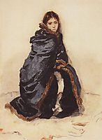 The elder Menshikov-s daughter, 1882, surikov