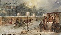 Evening in Petersburg, 1871, surikov