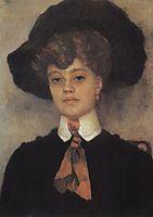 Female portrait, 1902, surikov