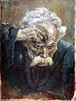 Head of baptized soldier, 1897, surikov