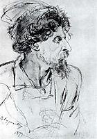 Head of cossack, 1879, surikov