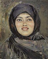 The head of laughting girl, 1890, surikov