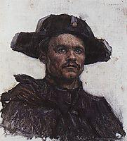 The head of soldier-drummer, 1898, surikov