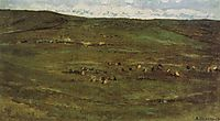 A herd of horses in Baraba steppes, c.1895, surikov
