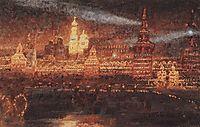 Illumination of Moscow, 1882, surikov