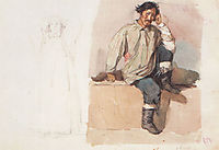 Khakasy with his feet bound with chains, 1873, surikov