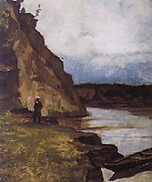 Landscape with brother-s figure, surikov