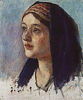 Maria-s head, c.1914, surikov