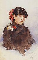Neapolitan girl with flowers in her hair, c.1884, surikov