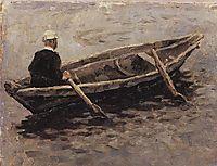 On boat (Study to , surikov