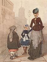 On Nevsky Prospekt on day, 1874, surikov