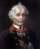 Portrait of Alexander Suvorov, 1907, surikov