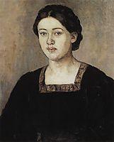 Portrait of A. A. Dobrinskaya, 1911, surikov