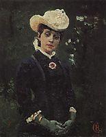 Portrait of E. K. Deryagina, 1879, surikov