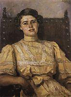 Portrait of E. N. Sabashnikova, 1907, surikov