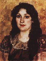 Portrait of E. A. Surikova, surikov