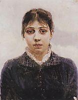 Portrait of E. A. Surikova, c.1887, surikov