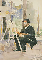 Portrait of I. S. Ostroukhov, 1884, surikov