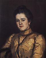 Portrait of A. I. Yemelyanova, 1903, surikov