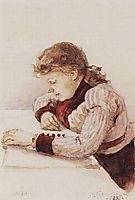 Portrait of K. M. Verkhoturova, 1890, surikov