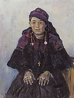 Portrait of khakasy, 1909, surikov