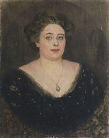 Portrait of M. Velichkina, nee Baroness von Klodt Yurgensburg, 1914, surikov
