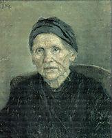 Portrait of mother, 1894, surikov