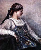 Portrait of Natalia F. Matveeva, 1909, surikov