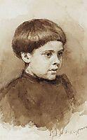 Portrait of O. V. Surikova, c.1885, surikov
