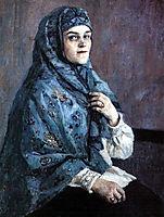 Portrait of princess P. I. Shcherbatova, 1910, surikov