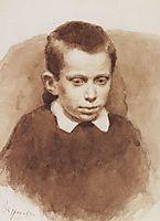 Portrait of A. S. Matveev in childhood, 1881, surikov
