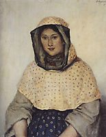 Portrait of T. K. Domozhilova, 1891, surikov