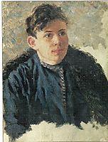 Portrait of young Leonid Chernyshev, 1890, surikov