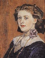 Portrait of young woman, 1911, surikov