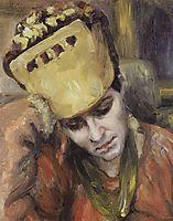 Portrait of young woman with kokoshnik, 1892, surikov