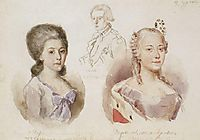 Portraits of Menshikov family, 1882, surikov