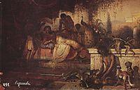 A rich man and Lazarus, 1873, surikov