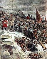Russian Troops under Suvorov Crossing the Alps (study), 1898, surikov