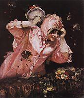 Scene from the Roman carnival, 1884, surikov