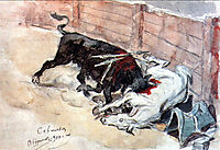 Seville. The bullfight., 1910, surikov