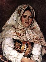 Siberian Beauty. Portrait of E. A. Rachkovsky., 1891, surikov