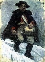 Soldier with drum, 1898, surikov