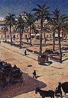 Square San-Fernando in Seville, 1910, surikov