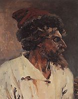 Strelets with cap, 1879, surikov